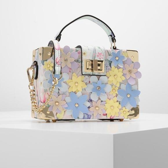 50f94ae866 ALDO Floral Applique Clutch Hand Cross body Bag